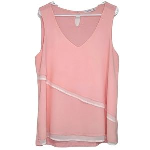 Ricki's Pink & White Layered Sleeveless Top